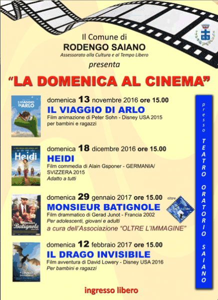 2016 11 13 domenicalcinema